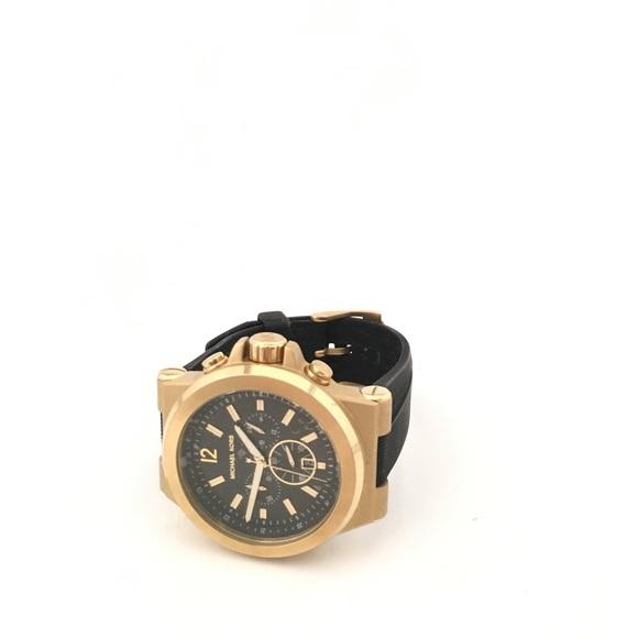 87b49f41635b ... Men s Dylan MK-8445 Goldtone Watch. M 5b8449005fef3792fd3d86ae